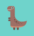 flat icon on background cartoon dinosaur vector image vector image