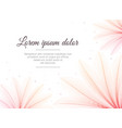 floral design template flower x-ray effect vector image vector image