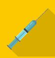 full syringe icon flat style vector image