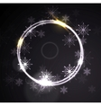 Glowing shiny ring with snowflakes vector image