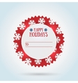 Happy holidays gift label design vector image