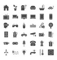 household appliance solid web icons vector image vector image