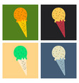 ice cream cone icon isolated on background trendy vector image vector image