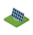 isometric solar panel concept clean energy vector image