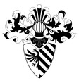 knight helmet and shield vector image vector image