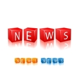 Letter cubes composed in word news vector image