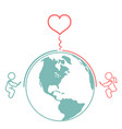long distance relationship and cell phones vector image vector image