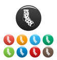 lost sock icons set color vector image vector image