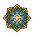 mandala indian emblem scribble vector image