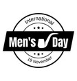 mens day icon simple style vector image vector image