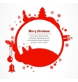 merry christmas christmas greeting card vector image