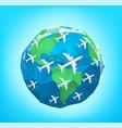 modern aircrafts traffic vector image vector image