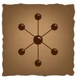 Molecule sign Vintage effect vector image vector image