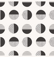 monochrome seamless hand drawn pattern made vector image
