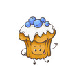 muffin cartoon character vector image vector image