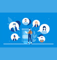 online meeting - flat design style colorful vector image