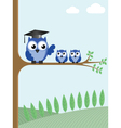owl teacher vector image