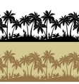Palms and flowers silhouettes seamless vector image vector image