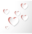 paper 3d heart vector image vector image