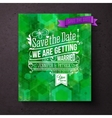Pretty abstract green Save The Date template vector image vector image