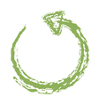 Recycle Symbol Brushed vector image vector image