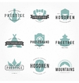 Retro Hand Drawn Logos Templates Set Hand vector image