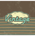 Retro Template Design Vintage Background vector image vector image