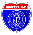 rhode island flag icons as interstate sign vector image vector image