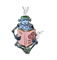 Robot and education vector image