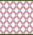 rose lattice pattern vector image vector image