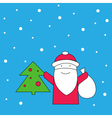 Santa Claus and snow Santa Claus and Christmas vector image