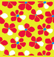 seamless bold bright cutout flower pattern vector image vector image