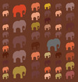 seamless pattern with colorful elephants for vector image vector image