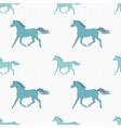 seamless pattern with retro colored horses vector image vector image