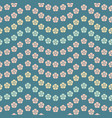 seamless repeat pattern of tropical flower vector image vector image