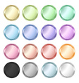 set of colorful glossy colored buttons vector image