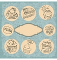 set of vintage labels cakes vector image vector image