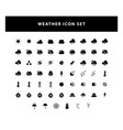 set weather icon with glyph style design vector image vector image