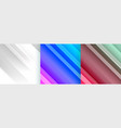 shiny abstract backgrounds set with diagonal lines vector image