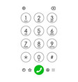 smartphone dialing panel vector image