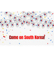 south korea garland flag with confetti on vector image