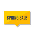 spring sale price tag vector image vector image
