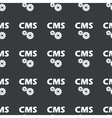 Straight black CMS settings pattern vector image vector image