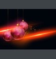 stylish christmas balls with light effect vector image vector image