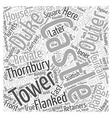 Thornbury Castle Word Cloud Concept vector image