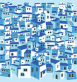 traditional greek island town village white houses vector image vector image
