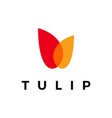 tulip overlapping color logo icon vector image vector image