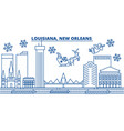 usa louisiana new orleans winter city skyline vector image vector image