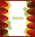 watercolor foods background vector image vector image