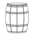 wine or beer barrels black color path icon vector image